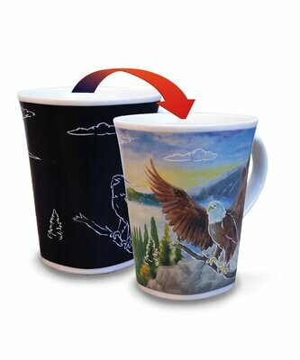 Eagle Colour Changing Mug  - Canadian Images Wildlife Edition
