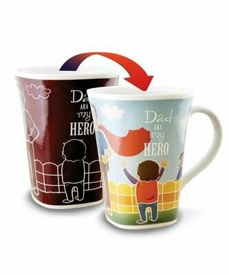 Dad Colour Changing Mug  - Dad AKA my Hero