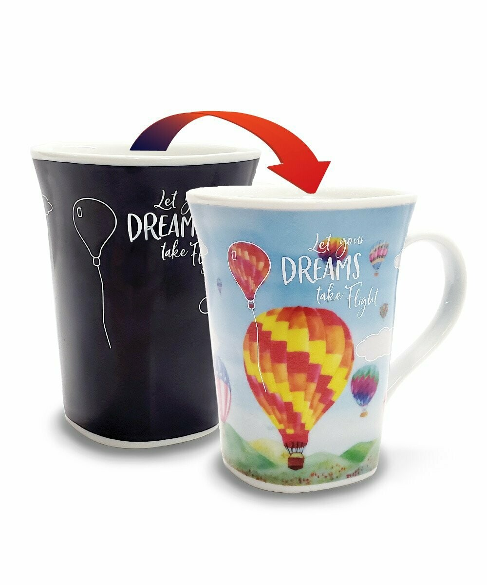 Dream Balloon Colour Changing Mug - Let your Dreams Take Flight