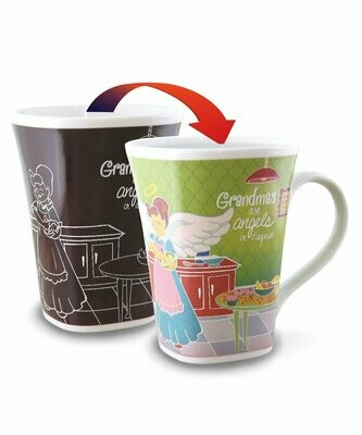 Grandma Colour Changing Mug - Grandmas are angels in disguise