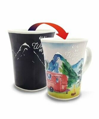 Adventure Colour Changing Mug - Not all who wander are lost