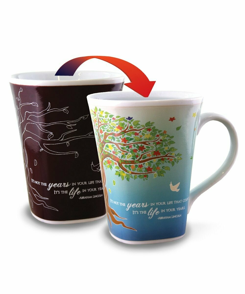 Life Colour Changing Mug  - It's not the years in your life that count. It's the life in your years.
