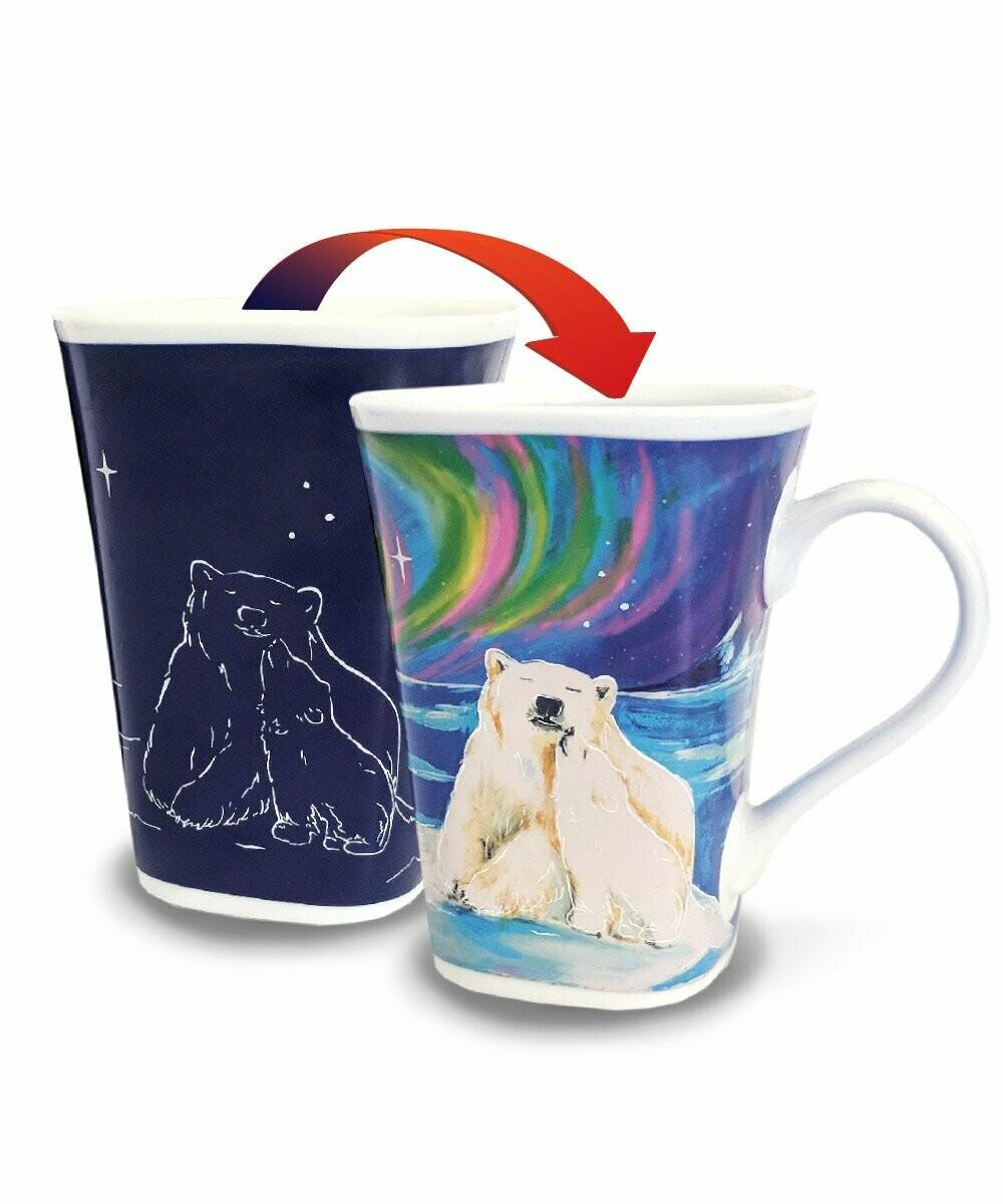 Polar Bear Hug Colour Changing Mug - Canadian Images Wildlife Edition