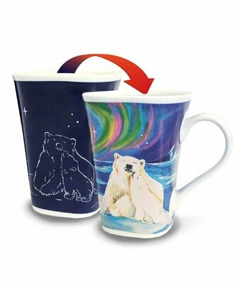 Polar Bear Hug Colour Changing Mug - Canadian Images Wildlife Edition