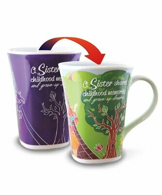 Sister Colour Changing Mug - A Sister shares childhood memories and grown-up dreams
