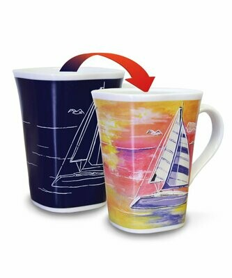 Sailboat Colour Changing Mug - Life is a Journey
