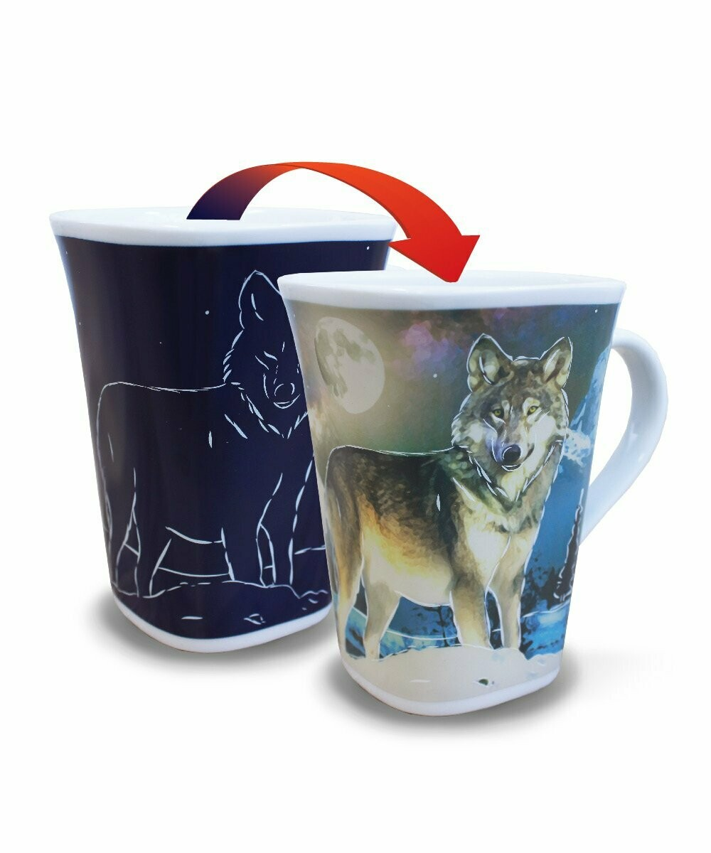 Wolf Colour Changing Mug - Canadian Images Wildlife Edition