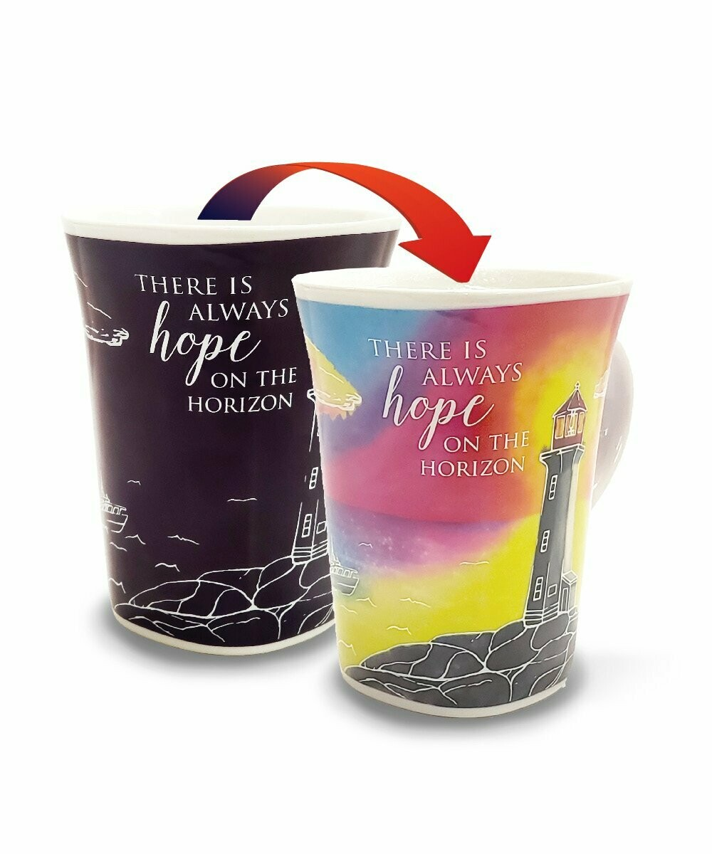 Lighthouse Colour Changing Mug - There is always Hope on the Horizon