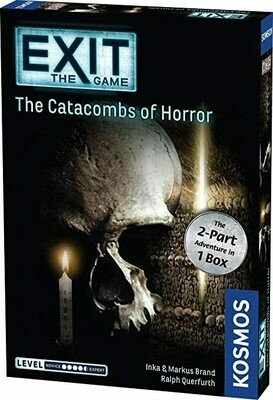 Exit - The Catacombs of Horror - Two Part Game Escape Room Game for 1 - 6 players.  Single use