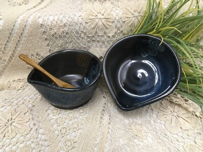 Condiment Bowl, Blue Stone - Pavlo Pottery - Canadian Handmade