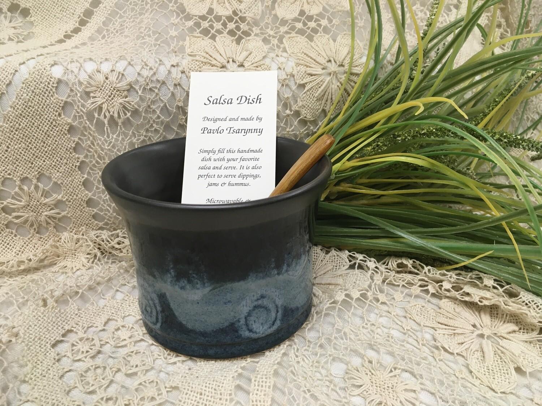 Salsa Dish, Blue Stone - Pavlo Pottery - Canadian Handmade