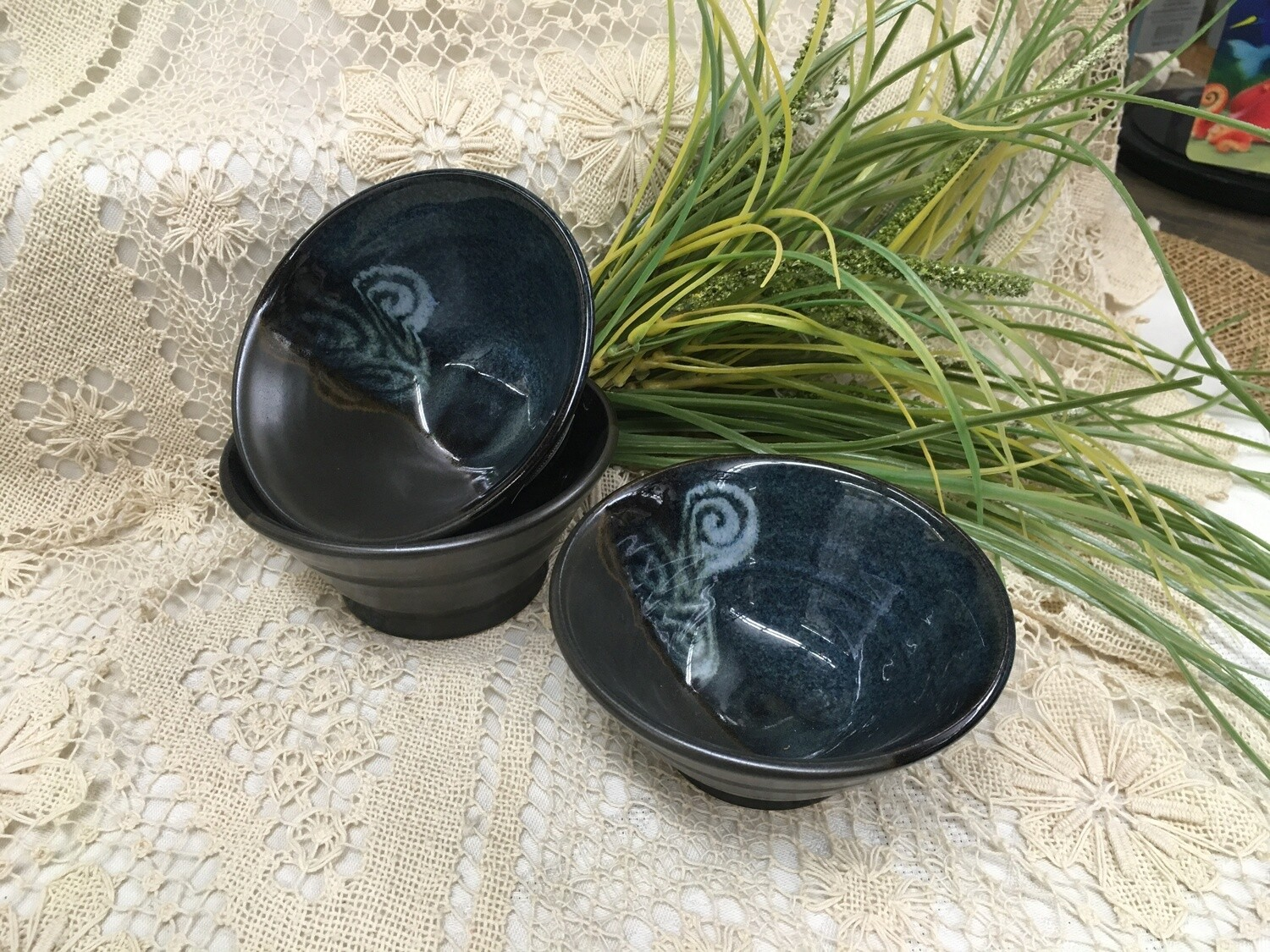 Mini Dip Bowl, Blue Stone - Pavlo Pottery - Canadian Handmade