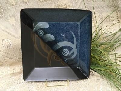Square Tray, Blue Stone - Pavlo Pottery - Canadian Handmade