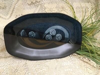 Oval Tray, Blue Stone - Pavlo Pottery - Canadian Handmade