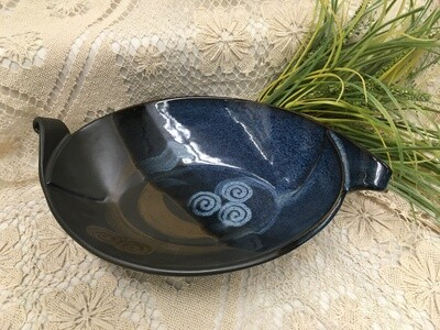 Slab Bowl Medium, Blue Stone - Pavlo Pottery - Canadian Handmade