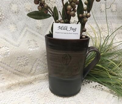 Milk Jug, Brown - Pavlo Pottery - Canadian Handmade