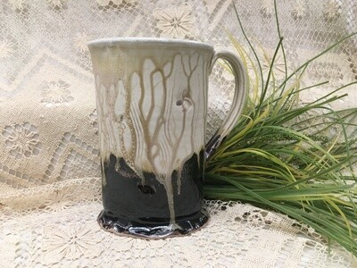 Milk Bag Jug, Cream Ash - Parsons Dietrich Pottery - Handmade Canadian