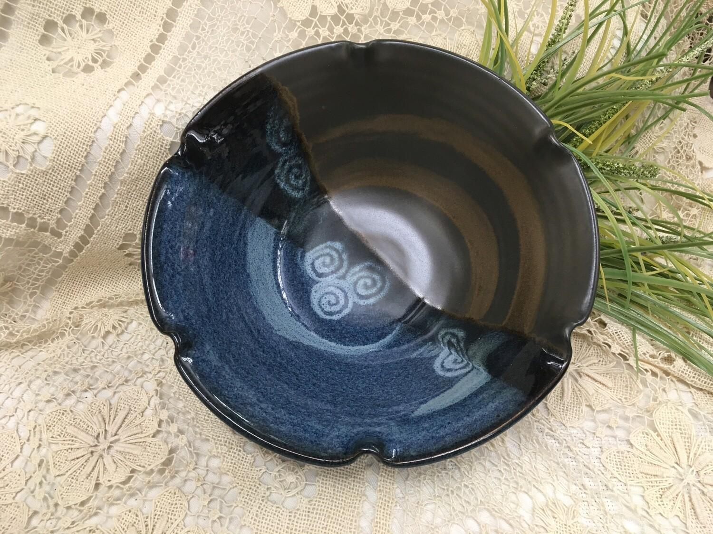 Bowl, Medium Fluted, Blue Stone - Pavlo Pottery - Canadian Handmade