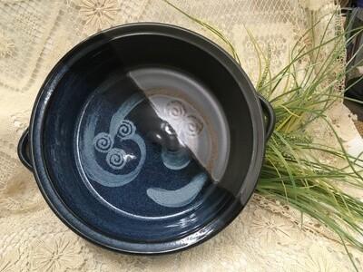 Open Casserole, Large, Blue Stone - Pavlo Pottery - Canadian Handmade