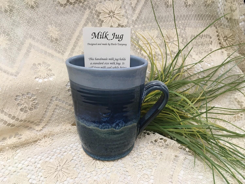 Milk Jug, Ocean Blue - Pavlo Pottery - Canadian Handmade