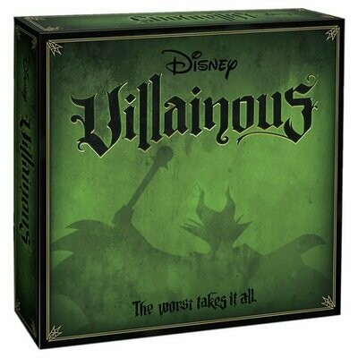 Disney Villainous - Original Board Game - Captain Hook, Maleficent, Jafar, Ursula, Prince John and the Queen of Hearts.