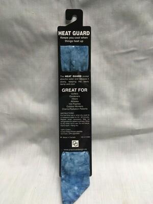Heat Guard Cooling Tie - Blue Sky Bubbles -  Handmade in Canada