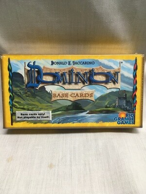 Dominion Base Cards - Can be used with any expansion to make a complete game - (Not a game on their own)