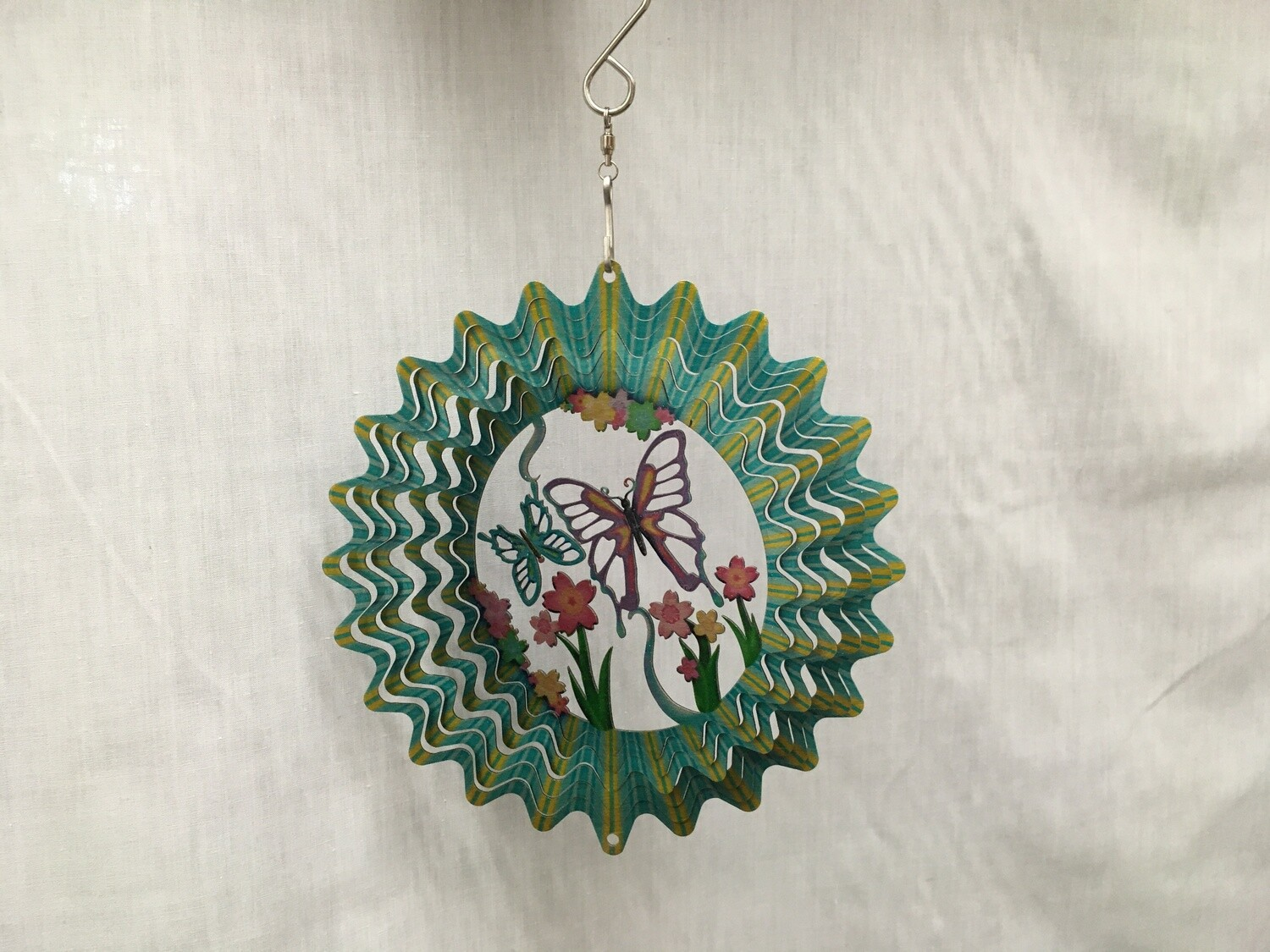 Blue Butterfly Small - Cut Out Design Wind Spinner