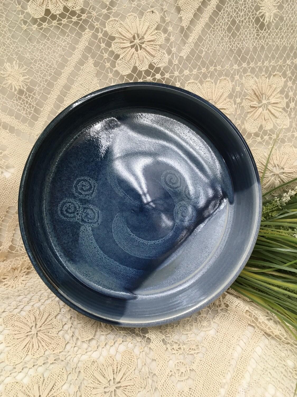 Fruit/Salad - Open Baker Medium, Ocean Blue - Pavlo Pottery - Canadian Handmade