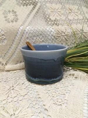 Salsa Dish, Ocean Blue - Pavlo Pottery - Canadian Handmade