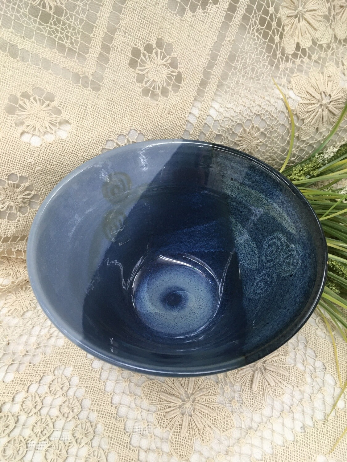 Bowl Medium Deep, Ocean Blue - Canadian Handmade Pavlo Pottery