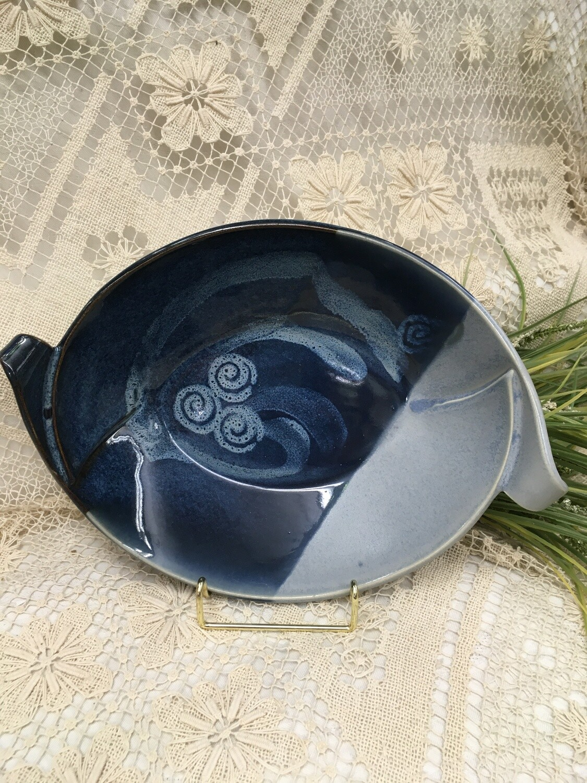 Slab Bowl Medium, Ocean Blue - Pavlo Pottery - Canadian Handmade