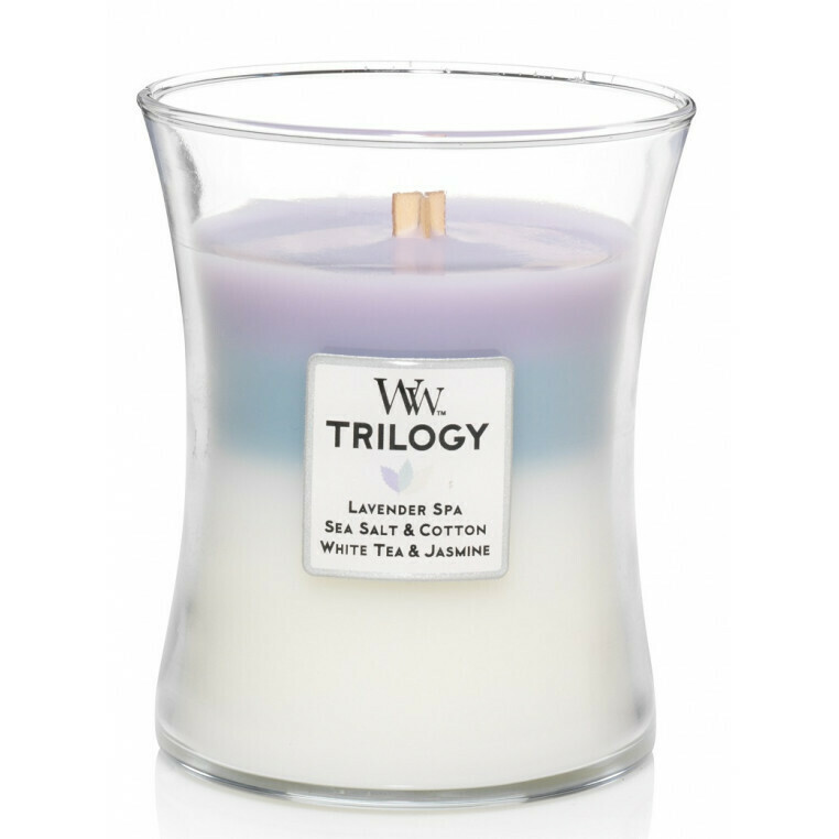 Calming Retreat - Medium Trilogy - WoodWick Candle