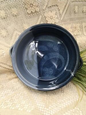 Open Casserole, Large, Ocean Blue - Pavlo Pottery - Canadian Handmade