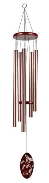 "Chime - 36"" - Bronze Tube/Dark Wood/Butterfly Design"