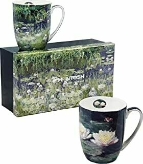 Monet - Water Lilies - Set of Two Fine Bone China Mugs in Collector Box