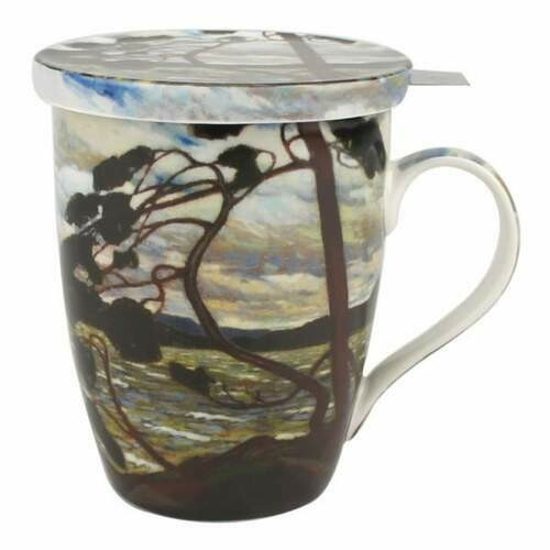 Thomson - The West Wind - Single Fine Bone China Tea Mug/Cup in Collector Box - with Lid and Strainer