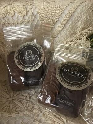 Almond Butter Crunch - milk and dark - 4 pieces