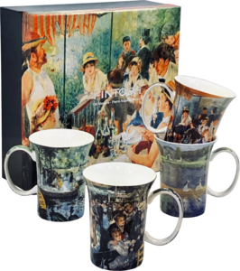 Renoir - Old Masters - Set of Four Fine Bone China Mugs in Collector Box