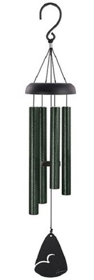 """Chime - 21"""" Forest Green Tubes - Black Metal top and Sail"""