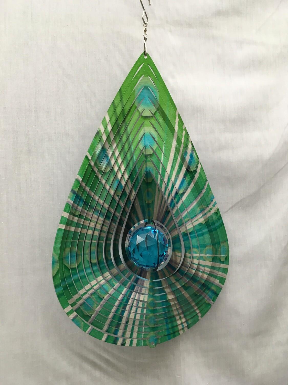 Teardrop Green Large - Wind Spinner
