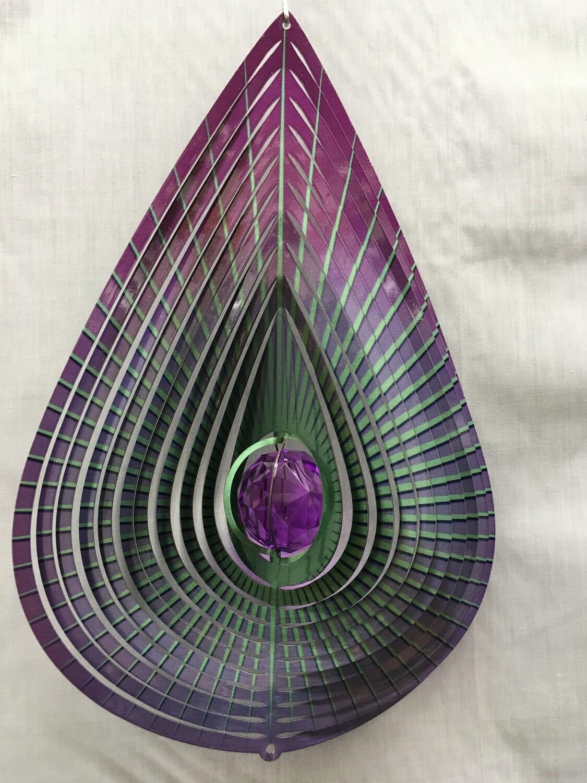 Teardrop Purple Large - Wind Spinner