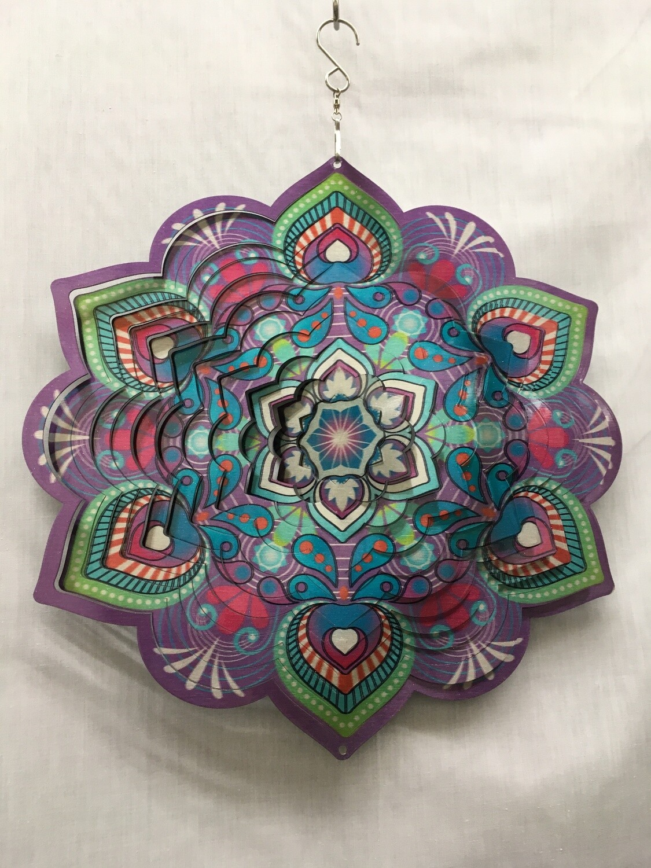 Lotus Mandala Purple/Pink Large - Wind Spinner
