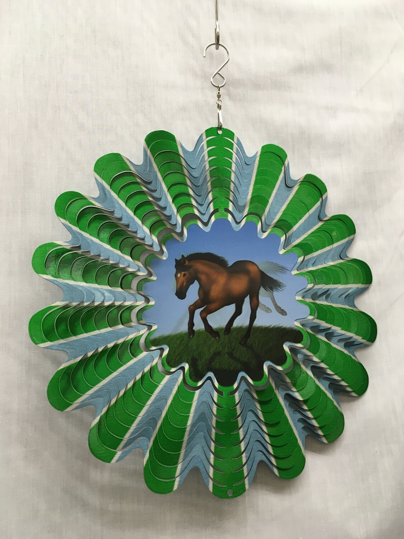Horse Large Animated Windspinner
