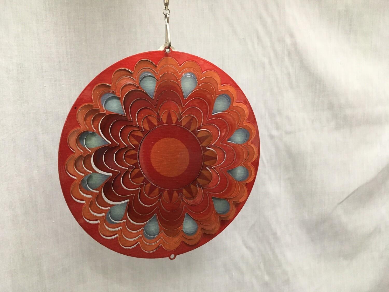 Sunset Mandala Red/Orange Small - Wind Spinner