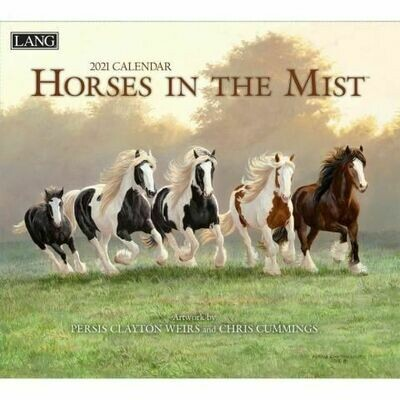 Lang Calendar - Horses in the Mist - Persis Clayton Weirs and Chris Cummings