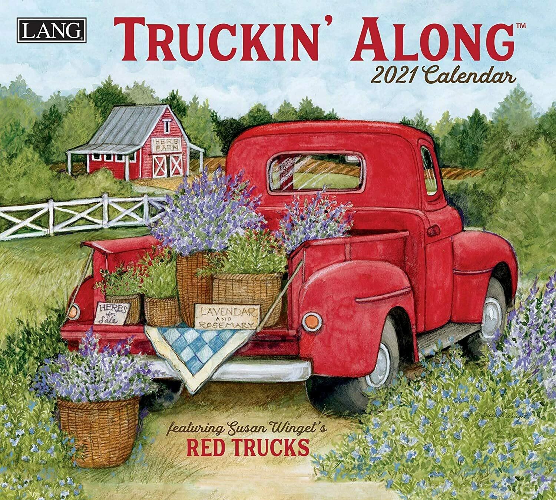 Lang Calendar - Truckin' Along - Susan Winget's Red Trucks
