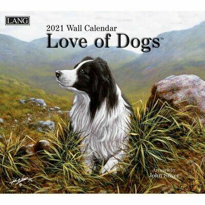 Lang Calendar - Love of Dogs - John Silver