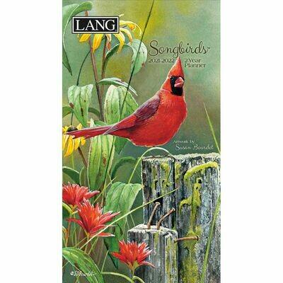 Lang Two Year Purse Calendar - Songbirds - Susan Bourdet - Planner