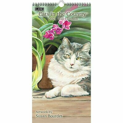 Lang Spiral Top Vertical Calendar - Cats in the Country - Susan Bourdet